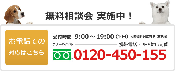電話でのお問い合わせは0120-450-155